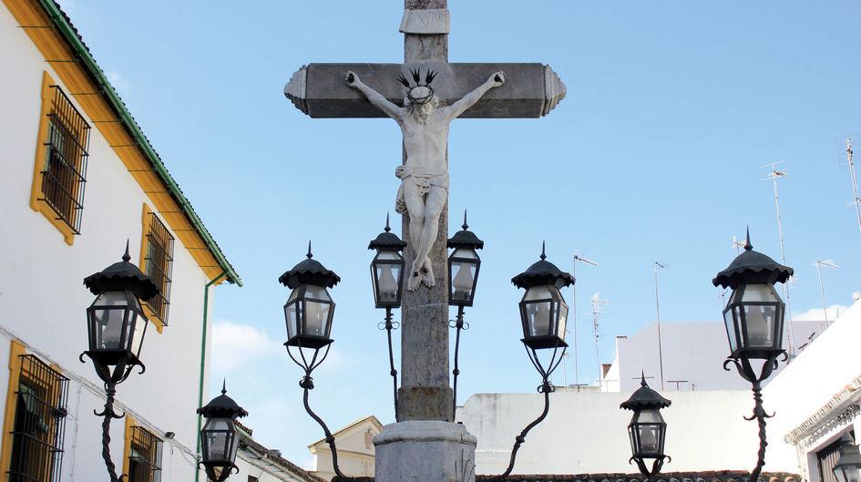 """Auch für Denkmäler, wie hier der """"Christo de los Faroles"""" in Córdoba, Spanien, eignen sich unsere Graffitischutz-Produkte. Der unsichtbare Mantel aus Protectosil ANTIGRAFFITI® bewahrt das Kunstwerk nicht nur vor Graffiti, sondern hält auch Schmutz fern und lässt Regen abperlen."""