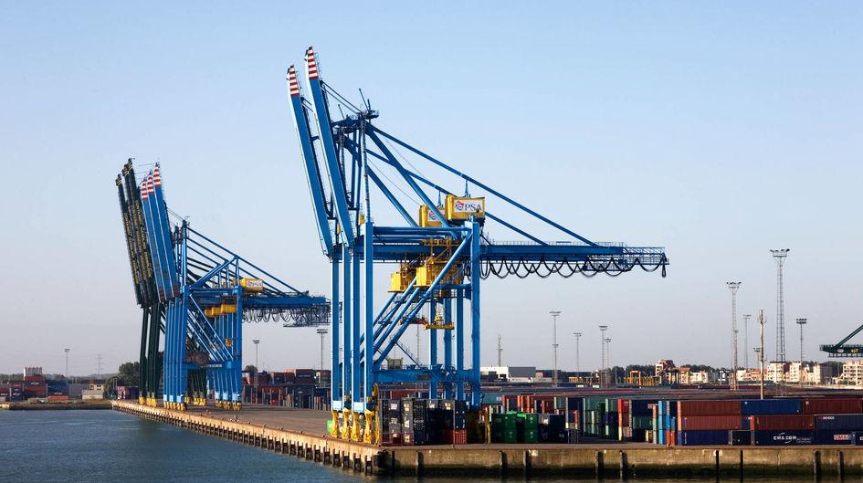 比利时的集装箱码头 Zeebrugge 受 Protectosil® BHN保护